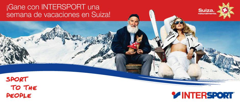 Sorteo de viajes a Suiza de Intersport